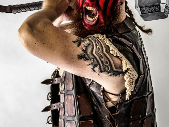 Fotoshooting mit den Wrestling Stars der EWA